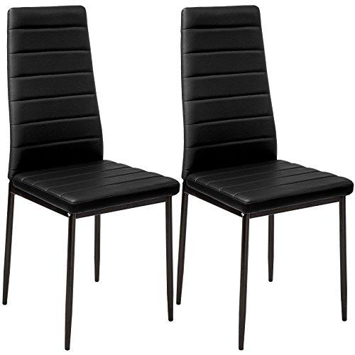 TecTake Set di 2 sedie per sala da pranzo 41x45x98,5cm nero