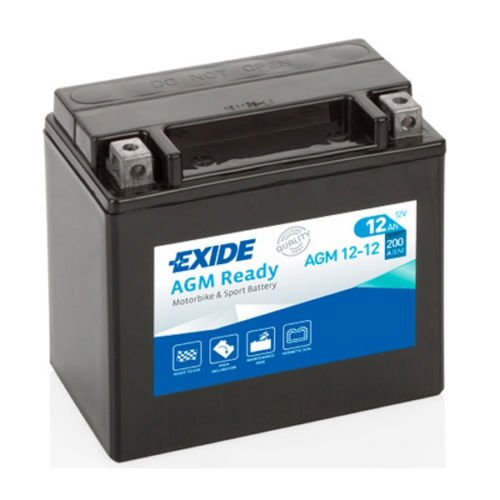 EXIDE VRLA AGM Sealed 12-12 YTX14-BS Upgrade Battery HONDA ST 1100 / Pan European 89-02 - Ready to use - No initial acid filling - 1 Year Warranty