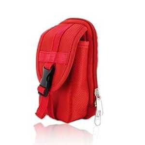 Red Camera Case Bag for Nikon COOLPIX L29/ L27 Compact Digital Camera