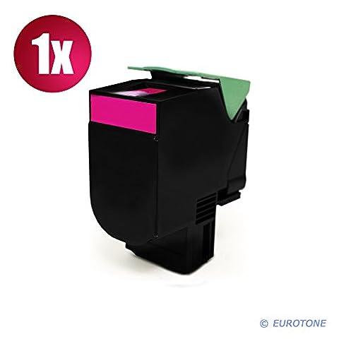 Lexmark toner remanufacturé c540H1MG lexmark c540 c543 c544 x543 x544 x546 x548 c546 rouge (environ 2000 pages)