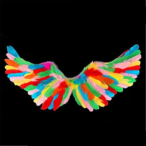 Kostüm Braut Reaper Für Erwachsene - MFFACAI Feder-Flügel-Erwachsene Kind-Erscheinen-Halloween-Stützen Braut-Blumen-Mädchen verkleiden Stützen, Color