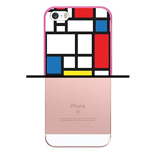 iPhone SE iPhone 5 5S Hülle, WoowCase® [ Hybrid ] Handyhülle PC + Silikon für [ iPhone SE iPhone 5 5S ] Bäume und Universum Handytasche Handy Cover Case Schutzhülle - Transparent Housse Gel iPhone SE iPhone 5 5S Rosa D0009