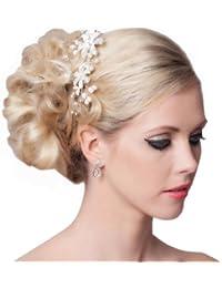 SEXYHER Sch?ne Vintage Style Haar-Kamm mit Kristallen und Perlen-Details