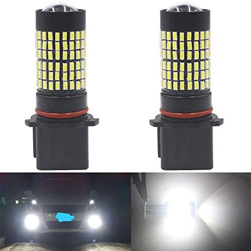 AMAZENAR Pack de 2 PSX26W 12278 12278C1 H28W 9V-30V Blanc 1400 Lumens 3014 144 SMD Projecteur Antibrouillard à LED avec Projecteur - Remplacement du Projecteur Antibrouillard à LED Feu de Jour 6000K