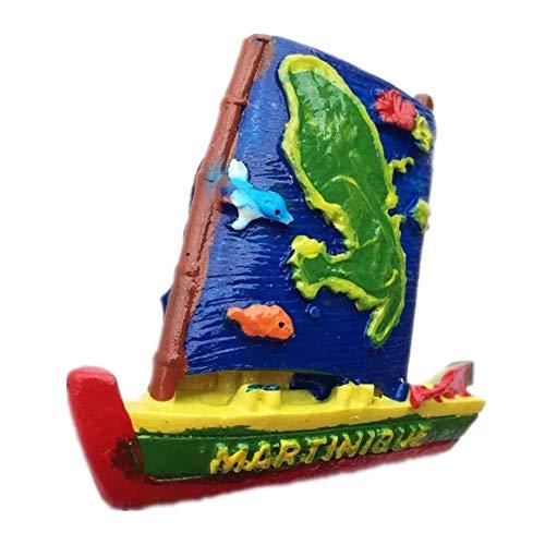 Kühlschrankmagnet Martinique Frankreich 3D Harz Handgemachtes Handwerk Touristische Reise Stadt Souvenir Sammlung Brief Kühlschrank Aufkleber