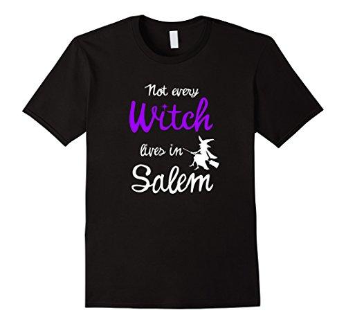 Not Every Witch Lives in Salem Halloween T-Shirt Herren, Größe XL (Halloween An Salem)