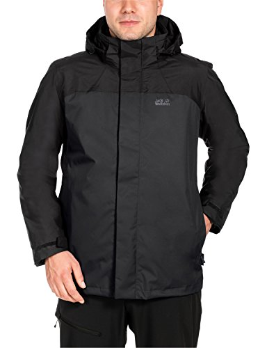 Jack Wolfskin Herren Echo Bay Men 3-In-1 Jacke, Black, XL