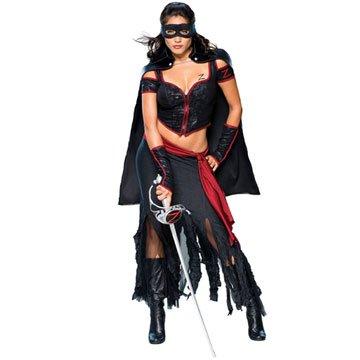 –Kostüm–Kostüm Erwachsene sexy lady (Erwachsene Lady Zorro Kostüme)
