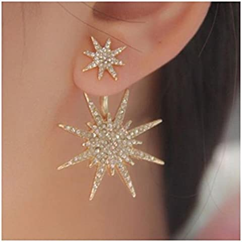 Mujers Pendientes,Xinan Aretes Crystal Rhinestone Estrella Ear Stud Earrings