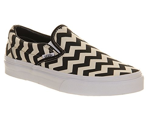 Vans U Classic Slip-on Overwashed, Unisex-Erwachsene Sneakers Black White Chevron