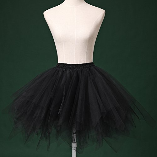 LSCY 1950s Vintage Schicht Gaze Petticoat Tutu Tutus Fluffy Schaum Falten Rock Tüllrock Kurz Ballett Orange