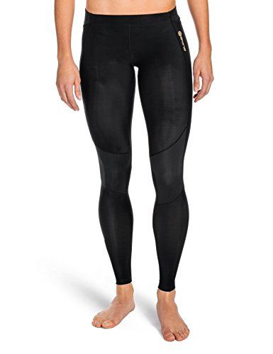 Skins Damen A400 Womens Long Tights Black FXL, XL