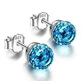 Alex Perry regalo di natale per donna orecchini blu cristallo swarovski argento 925 regali san valentino per lei gioielli donna regali natale compleanno per le donne ragazze amica mamma lei