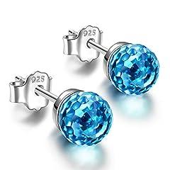Idea Regalo - Alex Perry regalo di natale per donna orecchini blu cristallo swarovski argento 925 regali san valentino per lei gioielli donna regali natale compleanno per le donne ragazze amica mamma lei