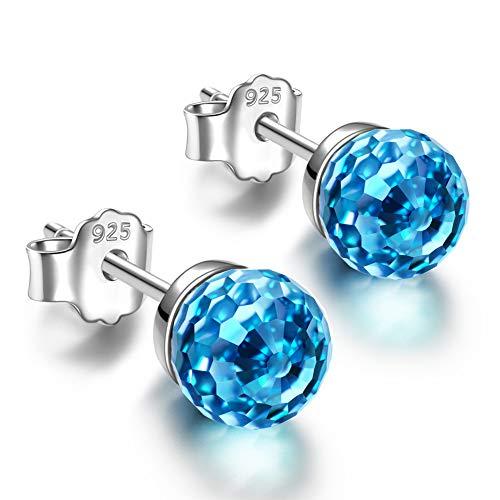 Alex Perry regalo di natale per donna orecchini blu cristallo swarovski argento 925 regali san valentino per lei gioielli donna regali natale compleanno per le donne ragazze amica mamm