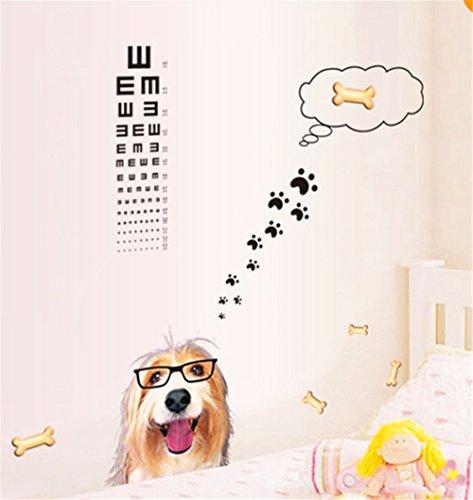 Wandtattoos Wandbilder Wandaufkleber Kinder Haus Kreativität Eye Dog Vision Chart Aufkleber Kinder Haus Krankenhaus Hintergrund -