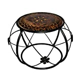 #10: Online Collection Wood & Iron Living Room Cofee Table & Stool
