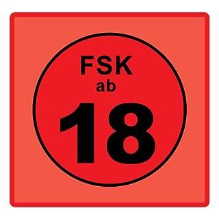 FSK 18 Aufkleber / 20 Stück