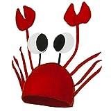 La vogue Krebs Hut Krabben Krebs Mütze für Kostüm Karneval Halloween Fasching