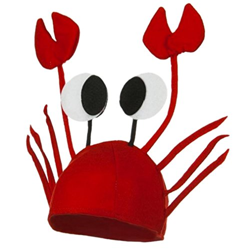 La vogue Krebs Hut Krabben Krebs Mütze für Kostüm Karneval Halloween - Lustige Karneval Kostüm