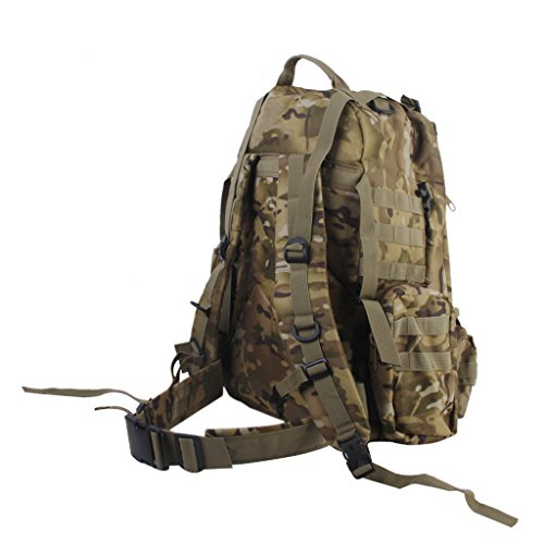 Wanderrucksäcke Militär Taktisch Rucksack Molle Angriff Rucksack Tasche Wandern 65L (Bräune) CP Camo