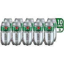 Heineken Cerveza - Caja de 10 TORPS x 2L - Total: 20 L