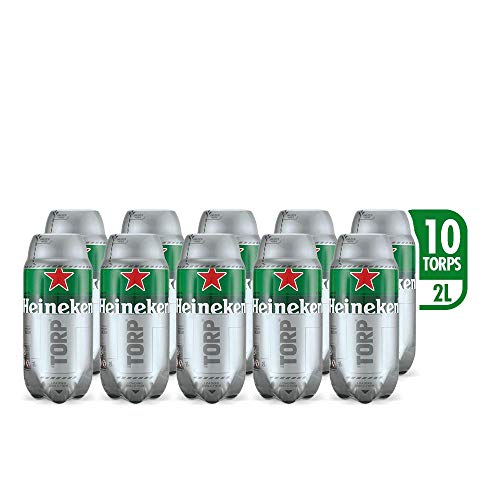 Heineken Beer - Box of 10 TORPS x 2L - Total: 20 L