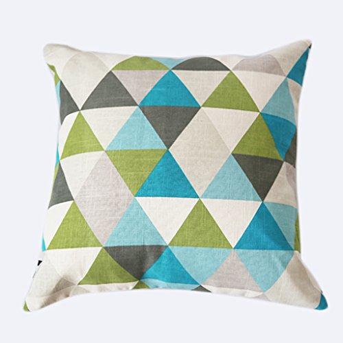 50 cm einseitig Gepolsterte Blaue Baumwolle Gemischt Sofa Kissenbezug Büro Auto Taille Kissen Sets Mittagspause Kissen Kissen