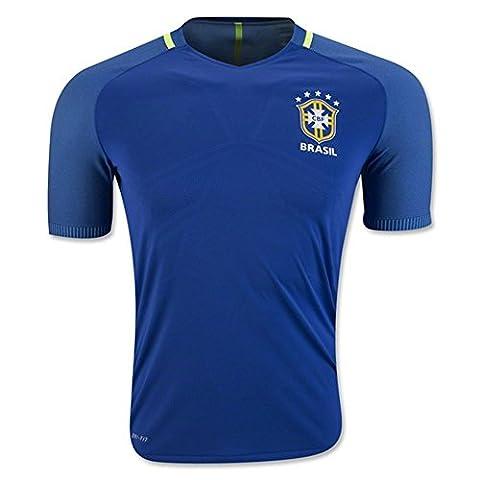 2018Away Coupe du Monde Brésil National Football Soccer Jersey en bleu Large Bleu - Bleu