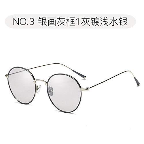 Gut aussehende Männer Sonnenbrille Herrentrend Business Fahren Fahren Sonnenbrille Helle Brille Damen Temperament Hong Kong Geschmack Straße Sonnenschirm Spiegel Wild Freizeit 1 Goldrahmen Voll Gra