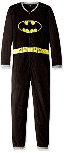 Batman Schwarz für Mann so unberechenbar-Anzug Schlafanzug Design der britischen Flagge, Schwarz