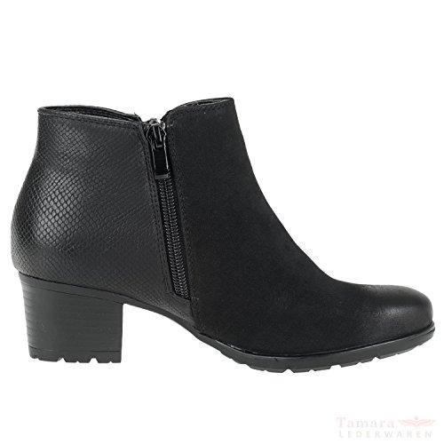 Rieker 95561-00 Damenschuhe Kurzschaft Stiefel schwarz Gr.39 Schwarz