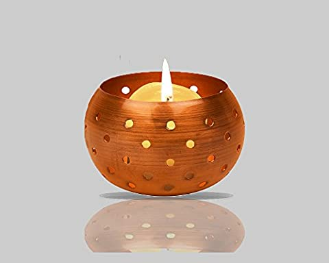 High Quality Copper Tealight Candle Holder Decoration - Aywav ® (1 Pack)