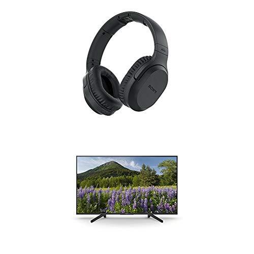 funkkopfhoerer sony Sony MDR-RF895RK kabellose Kopfhörer (bis zu 100 Meter Reichweite, Geräuschminimierungssystem, automatische Frequenzsuche) + KD-55XF7004 139 cm (55 Zoll) Fernseher (4K HDR, Ultra HD)