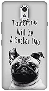 The Racoon Grip printed designer hard back mobile phone case cover for Lenovo Vibe P1M. (happy pug)