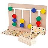 Banbie8409 sussidi didattici, di legno di gioco a quattro colori sussidi didattici illuminazione giocattoli per bambini Montessori