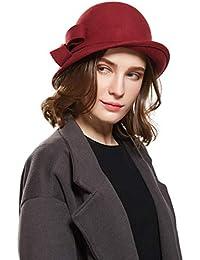Haimeikang Donna Elegante Cloche Cappello Benna Morbida Maglia in Lana  Slouch Rugosa Beanie cap Colore Solido 1bf761130460