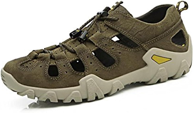 YaXuan Sandalias para Hombre Deportes Baotou Sandalias al Aire Libre Hombres Cerrados del Dedo del pie Deportes