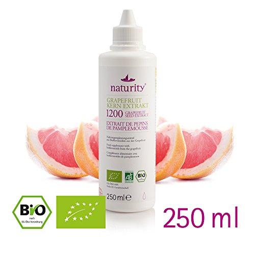 BIO Grapefruit Kern Extrakt, 1200 mg Bioflavonoide, 250 ml - hergestellt in Deutschland -bio & vegan, laborgeprüft! Top Preis-Leistungsverhältnis