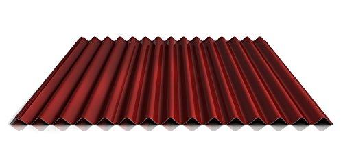 Wellblech | Profilblech | Dachblech | Profil PS18/1064CRA | Material Stahl | Stärke 0,50 mm | Beschichtung 35 µm | Farbe Rot