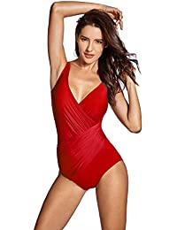 Delimira - Bañador con Relleno Vientre Plano Bikini para Mujer