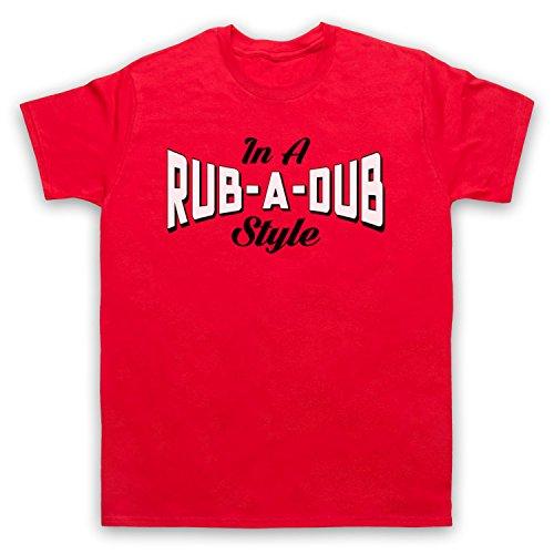 In A Rub A Dub Style Jamaican Reggae Music Herren T-Shirt Rot
