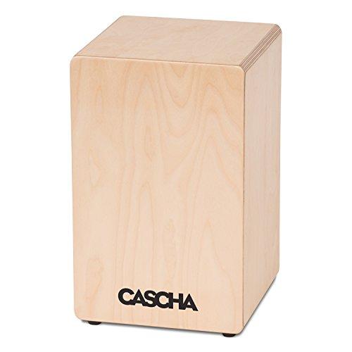 CASCHA HH 2065 Cajon Box, Handtrommel, ideal für Einsteiger und Anfänger mit Snare-Sound, hochwertiger Birkenkorpus, fertig aufgebaut