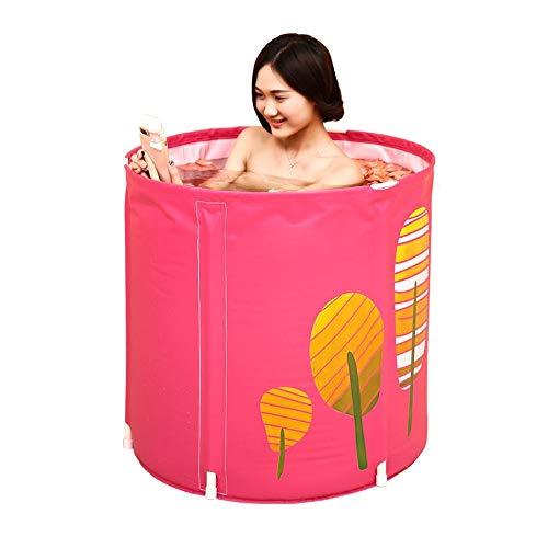 XF Faltbare Plastikbadewanne, tragbare, unabhängige, nach Hause verdickte Badewanne, eingebautes Komfortkissen, Keine aufblasbare, runde Badewanne, Babyschwimmen Freistehende Badewanne (Farbe : A)