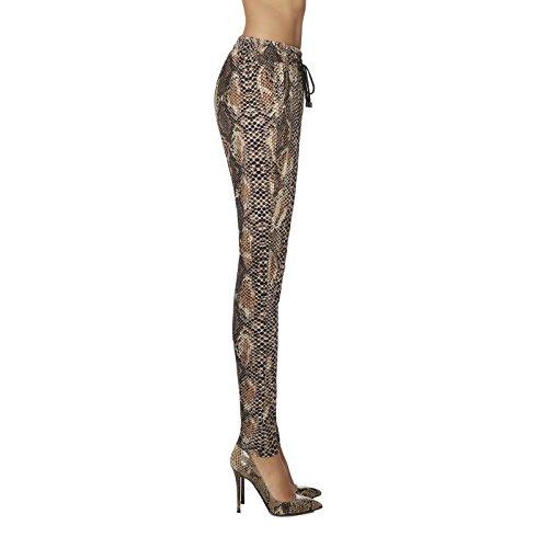 Legging style reptile peau de serpent haute qualité Marron