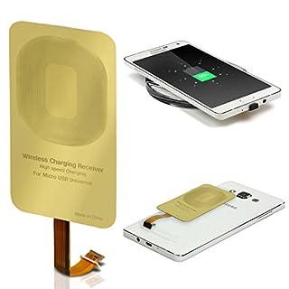 Urcover® Wireless Qi Receiver   Micro USB Anschluss   Ladeempfänger Charging Receiver Film Empfänger für alle Android Handy mit Micro-USB, Samsung Galaxy S5, S6, Huawei P8, Sony Xperia Z4 UVM.