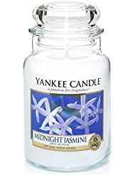 Officiel Yankee Candle Jasmin de minuit traditionnel de signature Jarre grande 623 g – Secure Mail par boîte