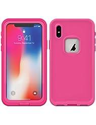 2c4f4d776b0 Yadasaro] iPhone XS MAX Funda,Certificado IP68 Funda Impermeable Estuche  Subacuático Delgado Anti-