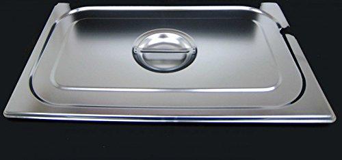 GN 1/1 Deckel Gastronormbehälter Abdeckung mit Aussparung GN-Behälter Edelstahl