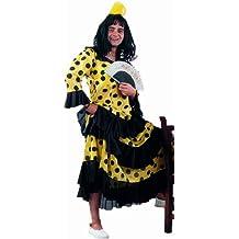 Limit Sport - Disfraz de flamenca para adultos, color amarillo y negro (MA898A)